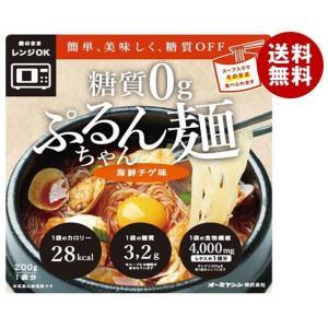 送料無料 オーミケンシ 糖質0g ぷるんちゃん麺 海鮮チゲ味 200g×12袋入|MISONOYA PayPayモール店