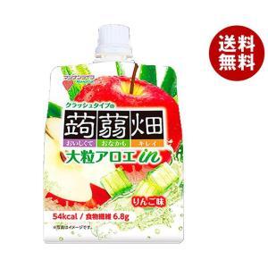 【送料無料】マンナンライフ 大粒アロエin クラッシュタイプの蒟蒻畑 りんご味 150gパウチ×30(6×5)本入|misonoya