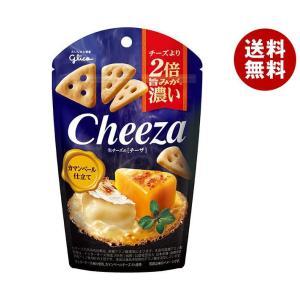 送料無料 【2ケースセット】グリコ 生チーズのチーザ カマンベール仕立て 40g×10袋入×(2ケー...