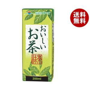 【送料無料】らくのうマザーズ おいしいお茶 200ml紙パック×24本入|misonoya