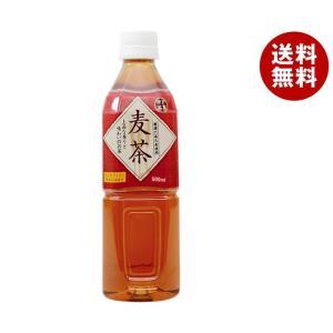 【送料無料】富永貿易 神戸茶房 麦茶 500mlペットボトル×24本入|misonoya