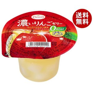 【送料無料】たらみ 濃いゼロカロリー 濃いりんごゼリー0kcal 195g×24(6×4)個入|misonoya