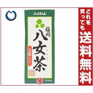 【送料無料】ふくれん 福岡八女茶 玉露入り 250ml紙パック×24本入 misonoya