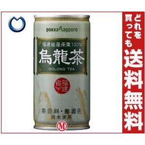 【送料無料】ポッカサッポロ 烏龍茶 190g缶×30本入|misonoya