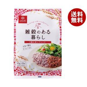 【送料無料】はくばく 雑穀のある暮らし 赤いブレンド(八穀) 180g(30g×6袋)×6袋入|misonoya