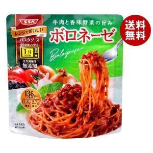 【送料無料】SSK レンジでおいしい!薫るパスタソース ポルチーニ茸ボロネーゼ 130g×20袋入 misonoya