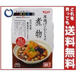 【送料無料】SSK レンジでおいしい! 小鉢料理 厚揚げとひじきの煮物 100g×12個入 misonoya