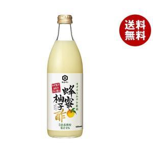 【送料無料】キッコーマン 蜂蜜柚子酢 500ml瓶×6本入|misonoya