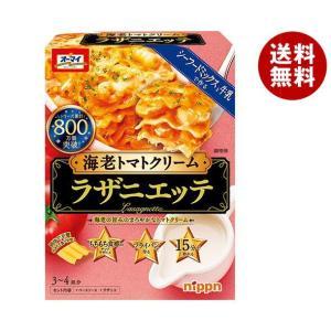 送料無料 日本製粉 オーマイ ラザニエッテ 海老トマトクリーム 300g×6箱入|MISONOYA PayPayモール店