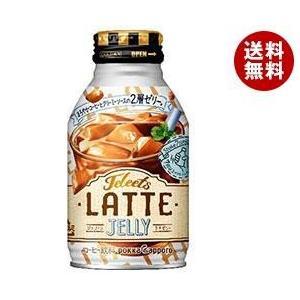 【送料無料】ポッカサッポロ JELEETS(ジェリーツ) ラテゼリー 265gボトル缶×24本入|misonoya