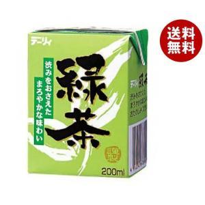 【送料無料】南日本酪農協同 デーリィ 緑茶 200ml紙パック×24本入 misonoya