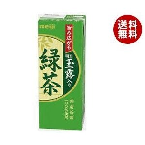 【送料無料】明治 明治玉露入り緑茶 200ml紙パック×24本入 misonoya