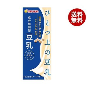 【送料無料】マルサンアイ ソイプレミアム ひとつ上の豆乳 成分無調整 200ml紙パック×24本入 misonoya