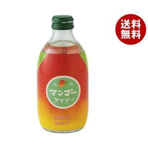 【送料無料】友桝飲料 完熟マンゴーサイダー 300ml瓶×2...