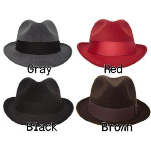 帽子 メンズ ハット ぼうし 帽 ぼうし メンズ帽子レディース 商品番号3301c 58cm子 フェルトハット 中折れハット|missa-more