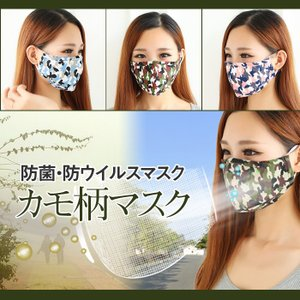マスク   花粉・PM25・MERS対策 高機能フィルター付き 選べる3点セット カモ柄マスク ゆうパケット便送料無料 missbeki