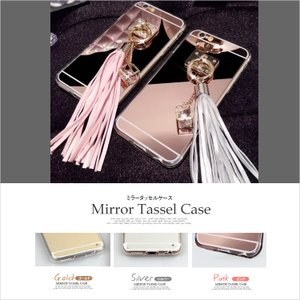 スマホケース iPhone5 iPhone5S iPhoneSE ミラータッセルケース 大人気 かわいい可愛い ジェリーケース 花デコ 送料無料|missbeki