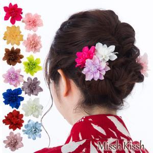 華やかなお花のクリップ 髪飾り 浴衣 和装 コサージュ ゆかた 花かざり 七五三 花 子ども 子供 キッズ 成人式 プチプラ