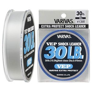 VARIVAS(バリバス) ショックリーダー VEP ナイロン 50m 8号 30lb ナチュラル|mississippi