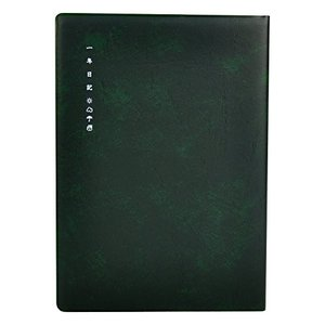 ライフ 日記帳 一年日記 縦罫 A5 緑 D1560B|mississippi