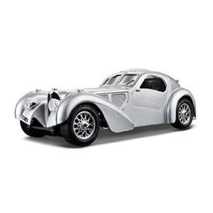 おもちゃ bugatti ブガッティ Atlantic Silver 1/24 by Bburago 22092 レプリカ ミニチュア ミニカー 模型|mississippi