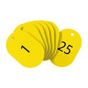 オープン工業 番号札 小 黄 25枚 1-25番 セット BF-70-YE|mississippi