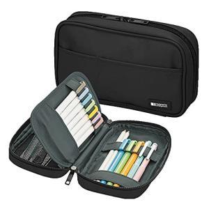 (Standard: 7.9 x 2.0 x 4.7  Jet Black) - LIHIT LAB Pen Case 7.9 x 5.1cm x 1|mississippi