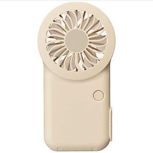 ドウシシャ 携帯扇風機 ポケットファン 薄型 2電源(USB 充電式) 風量3段階 ピエリア クリーム FSV-51B CR|mississippi