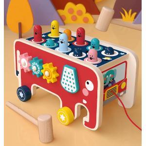 短納期 知育玩具 おもちゃ 3歳 2歳 1歳 ハンマートイ 誕生日プレゼント 男の子 木のおもちゃ 女の子 車 大工さん 積み木 クリスマスプレゼント 送料無料の画像