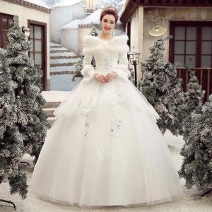 4f3f71163efce ウエディングドレス 結婚式 二次会 ウェディングドレス 安い プリンセス 長袖 エンパイア 花嫁 ドレス ロングドレス ブライダル