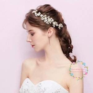 ウエディング ティアラ 安い 髪飾り ウェディング 結婚式 ヘッドドレス ブライダル用 パーティー 二次会 ヘアアクセサリー 花嫁 発表会