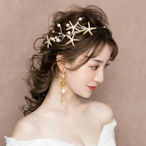 ウエディング ティアラ 髪飾り カチューシャ 花嫁 ウェディング 結婚式 ヘッドドレス 安い ブライダル パーティー 二次会 ヘアアクセサリー イヤリング キラキラ
