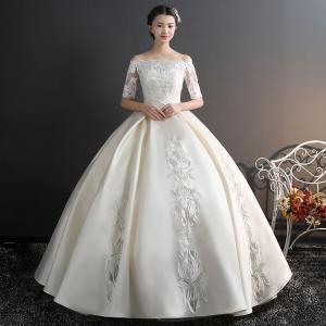 ウェディングドレス 白 格安 レース 結婚式 花嫁 シンプル ロングドレス 袖あり ブライダル 二次...