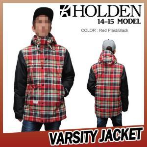 14-15 HOLDEN (ホールデン) THE VARSITY JACKET -BLACK/RED PLAID- 50%OFF割引セール 【日本正規品】【送料無料】【代引き手数料無料】