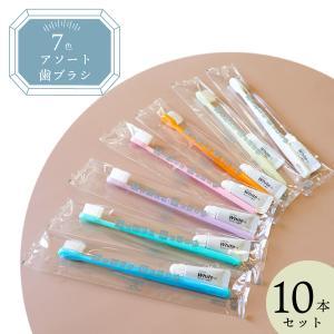 業務用アメニティ 7色アソート歯ブラシ チューブ別 10本セット|misugido
