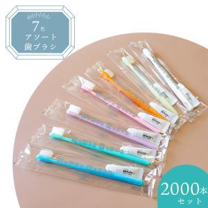 業務用アメニティ 7色アソート歯ブラシ チューブ別 2400本セット|misugido
