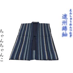 【日本製・遠州綿紬】わた入りちゃんちゃんこ  Lサイズ(身丈88cm)〜S-11〜大海(たいかい) misugido