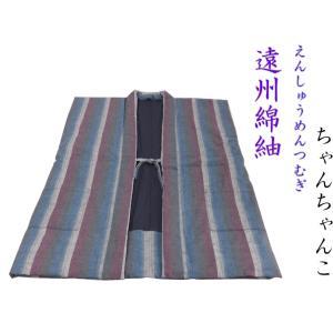 【日本製・遠州綿紬】わた入りちゃんちゃんこ  Lサイズ(身丈88cm)〜S-50 misugido