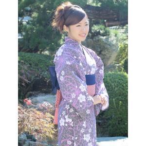 日本製 仕立浴衣 桜に乱菊【寝巻き浴衣】【旅館】【業務用】【寝間着】 misugido