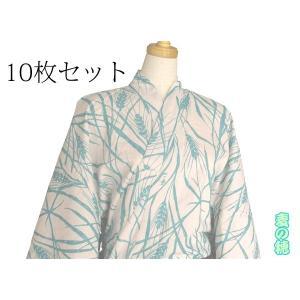 【10枚セット】【竹久夢二】大正浪漫浴衣 麦の穂 水色|misugido