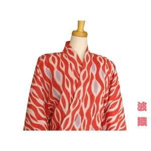 【竹久夢二】大正浪漫浴衣  波織 赤 【旅館浴衣】|misugido