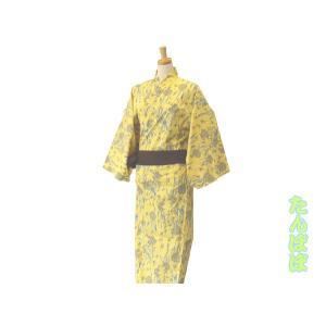 【竹久夢二】大正浪漫浴衣 タンポポ 黄【旅館浴衣】|misugido