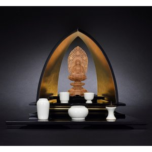 仏壇 コンパクト マインドステージ 12号 うるし・松 おしゃれ スタイリッシュ 日本製|misuhei