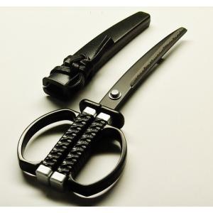 ニッケン刃物 関伝の美 日本刀はさみ 忍者刀鋏 NJ-27B misuzu-store