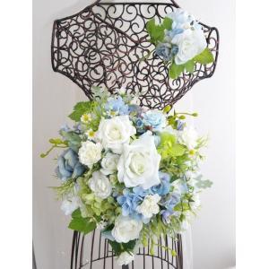ナチュラルブーケ ブトニアセット ラウンド ブルー草花系 ガーデンフォト 1-sale0001|misuzu1187
