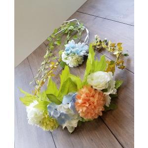 【得々OUTLET!!】花冠とヘアコサージュのセット ミックスカラー ヘッドドレス アウトレット ガーデンウエディング 夏フェス 披露宴 花輪 現品限り |misuzu1187