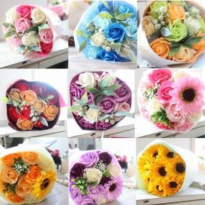 ギフト シャボンフラワーブーケ 花束 プリザーブドフラワー 優しい石鹸の香り お祝い お見舞い 送別会 誕生日 開店祝い 母の日 敬老の日 misuzu1187