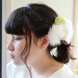 マム2個&ファーセット ちょい足し パーツ  和風 和装ヘア 袴  七五三 成人式 和婚|misuzu1187