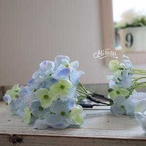 *misuzu*紫陽花(あじさい) 水色 3P 成人式 浴衣 前撮り 髪飾り|misuzu1187