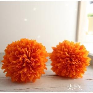 2個セット orange マム髪飾り 着物 和装 袴 七五三 成人式 和婚|misuzu1187